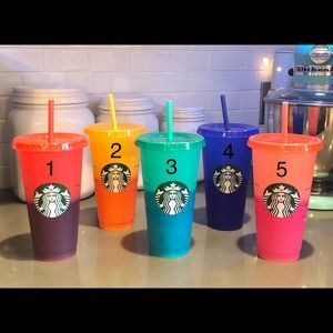 Personalized color changing Starbucks cup